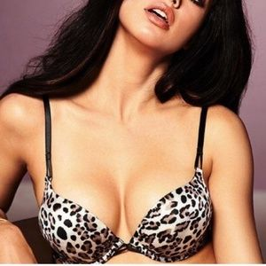 Victoria Secrets Leopard Bombshell Push Up Bra